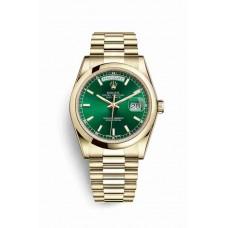Réplica Rolex Day-Date 36 oro amarillo 118208 verde Dial Reloj