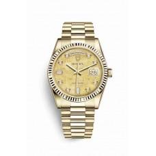 Réplica Rolex Day-Date 36 oro amarillo 118238 Champagne-colour mother-of-pearl Jubilee Diamantes Dial Reloj