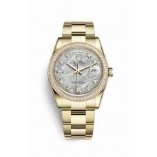Réplica Rolex Day-Date 36 oro amarillo 118348 Meteorite Diamantes Dial Reloj