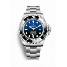 Réplica Rolex Deepsea D-Azul dial OysterAcero 126660 D-Azul Dial Reloj