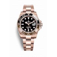 Réplica Rolex GMT-Master II Everose oro 126715CHNR Negro Dial Reloj