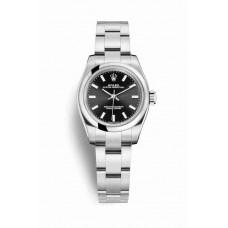 Réplica Rolex Oyster Perpetual 26 OysterAcero 176200 Negro Dial Reloj