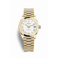 Réplica Rolex Datejust 31 oro amarillo 278248 Blanco Dial Reloj