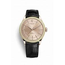 Réplica Rolex Cellini Time Everose oro 50605RBR Rosado Dial Reloj