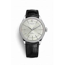 Réplica Rolex Cellini Time Oro blanco 50609RBR Rhodium Dial Reloj