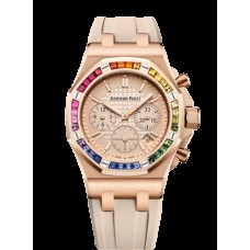 Audemars Piguet Royal Oak OffShore 26231 Lady Cronografo Oro rosado/Plata/Rainbow 26236OR.YY.D085CA.01
