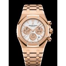 Audemars Piguet Royal Oak Cronografo 38 Oro rosado/Plata 26315OR.OO.1256OR.01