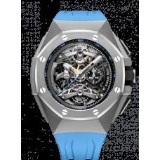 Audemars Piguet Royal Oak Concept Tourbillon Cronografo Openworked Selfwinding Titanium/Azul 26587TI.OO.D031CA.01