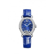 Chopard Happy Sport Oval 7 Floating Diamantes Madre perla Diamond Cuero Strap para mujer