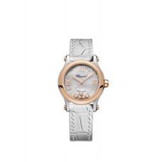 Chopard Happy Sport 30mm Automatica 18 K Oro rosa Inoxidable Acero y Diamantes
