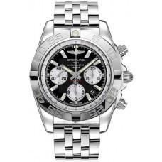 Breitling Chronomat de acero inoxidable con esfera negra para hombre AB011012 / B967 / 388A Réplicas