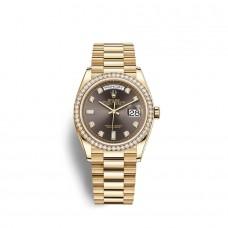 Rolex Day-Date 36 oro amarillo de 18 quilates M128348RBR-0005 Réplicas