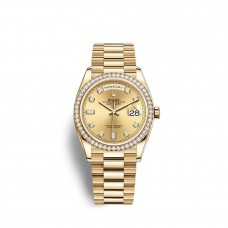 Rolex Day-Date 36 oro amarillo de 18 quilates M128348RBR-0008 Réplicas