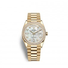 Rolex Day-Date 36 oro amarillo de 18 quilates M128348RBR-0017 Réplicas