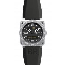 Réplica Bell & Ross BR 03 Type Aviation Acero Cuarzo 42mm hombres reloj