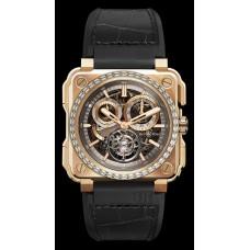 Bell & Ross BR-X1 TOURBILLON ROSE GOLD DIAMONDS Reloj de Réplicas