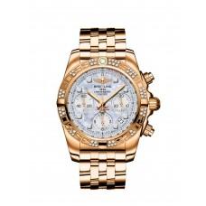 Réplicas Breitling Chronomat 41 hombres Oro rosa Diamond Bezel HB0140AA/A723/378Hs