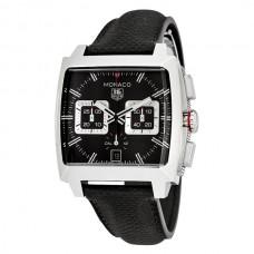 Réplicas Tag Heuer Monaco Black Opalin Dial Automatico hombre Chronograph Reloj CAL2113.FC6536
