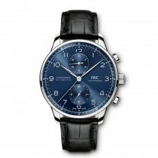 IWC Portugieser Automatico Cronografo Azul Dial IW371491