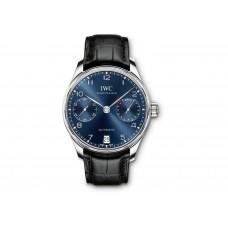 IWC Portugieser Cronografo Automatico Azul Dial IW500710