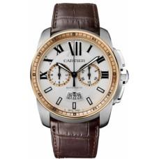 Calibre De Cartier Chronograph hombres Reloj W7100043