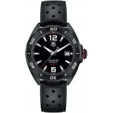 Réplicas Tag Heuer Formula 1 Automatico Dial Negro Caucho negro WAZ2115.FT8023