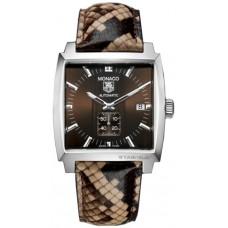 Tag Heuer Monaco Brown Python Acero hombres replicas de reloj