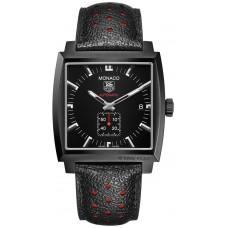 TAG Heuer Monaco Calibre 6 automatico replicas de reloj Full negro 37 mm