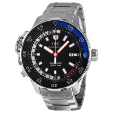 Réplicas IWC Aquatimer esfera negra de acero inoxidable reloj para hombre IW354703