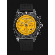 Réplicas Breitling Chronomat 44 Negro acero Amarillo MB0111AV/I532/262S/M20DSA/2s