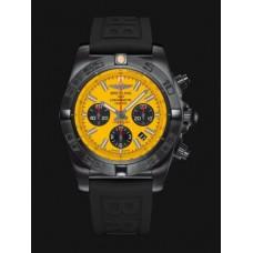 Réplicas Breitling Chronomat 44 Negro acero Amarillo MB0111C3/I531/262S/M20DSA/2s