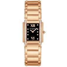 Patek Philippe Marcar negro 18kt Oro rosa Diamante Senoras Reloj 4908-11R-001