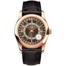 Patek Philippe Calatrava esfera marron 18K Oro rosa hombres Reloj 6000R-001