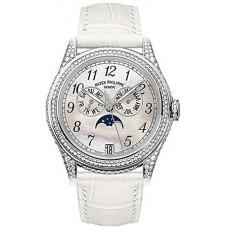Patek Philippe Complicated 18kt Oro blanco Moon Phase Diamante Senoras Reloj 4937G