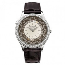 Patek Philippe Complication Mechanical Marfil y esfera marron hombres Reloj 7130G-010