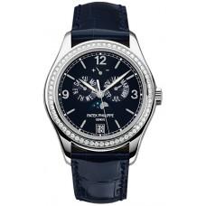 Patek Philippe Complications Annual Calendar Esfera azul Diamante 5147G-001