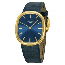 Patek Philippe Golden Ellipse 18kt Oro amarillo Azul hombres Reloj 3738-100J