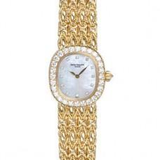 Patek Philippe Golden Ellipse Blanco Madre perla Marcar Senoras Reloj 4931-2J