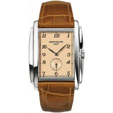 Patek Philippe Gondolo Manua Vintage Rose Marcar Cuero hombres Reloj 5124G-001