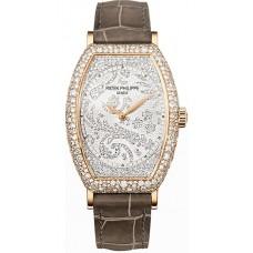 Patek Philippe Gondolo Mechanical Gold and Diamante Marcar Senoras Reloj 7099R-001