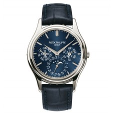 Patek Philippe Grand Complications Esfera azul Platinum Azul Cuero hombres Reloj 5140P