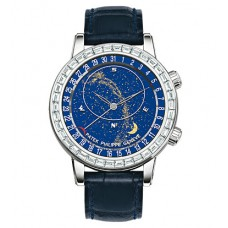Patek Philippe Grand Complications Celestial 18K Oro blanco Diamante hombres Reloj 6104G-001