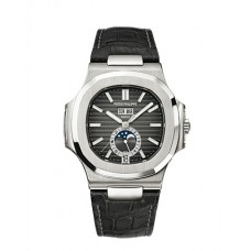 Patek Philippe Nautilus Automatico GMT Moonphase Marcar negro hombres Reloj 5726A-001