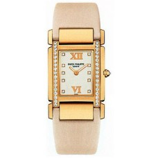 Patek Philippe Twenty 4 18kt Oro rosa Vanilla Strap Diamante Senoras Reloj 4920R