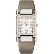 Patek Philippe Twenty 4 Diamante esfera blanca Oro blanco Senoras Reloj 4920G/010