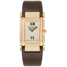 Patek Philippe Twenty-4  18kt Oro rosa Diamante Marcar Satin Strap Senoras Reloj 4910R