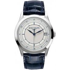 Patek Philippe Calatrava Automatico plata 18k Oro blanco hombres Reloj 5296G-001