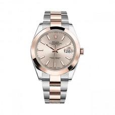 Réplicas Rolex Datejust 41 126301SNSO Sundust Dial Steel y 18K Rose Gold Watch