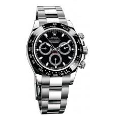 Réplicas Rolex Cosmograph Daytona 116500BKSO esfera negra reloj de acero inoxidable Oyster